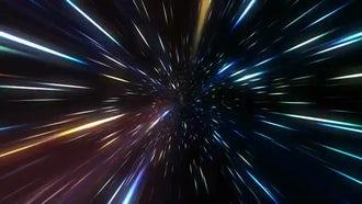 Hyper Speed Flight Into Galaxy: Motion Graphics