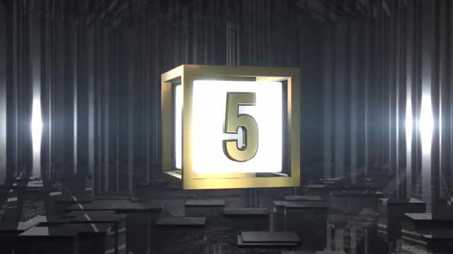 Top 10 Countdown Gold: Stock Motion Graphics