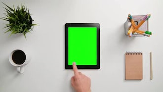 Scrolling And Tapping On Tablet: Stock Footage