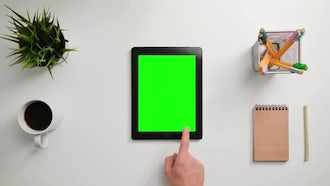 Finger Scrolling On A Touchscreen: Stock Footage