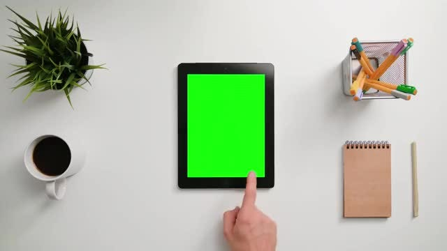 Finger Scrolling On A Touchscreen: Stock Video