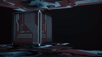 Color Tech Cube Loop: Motion Graphics