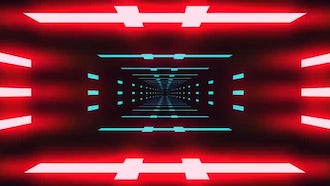 VJ Neon Tunnel Pack: Motion Graphics