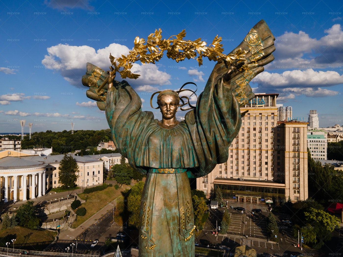 Bereginya Monument: Stock Photos
