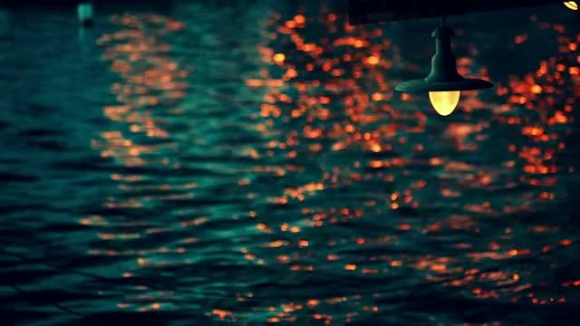 Reflections Of Light In Water: Stock Video