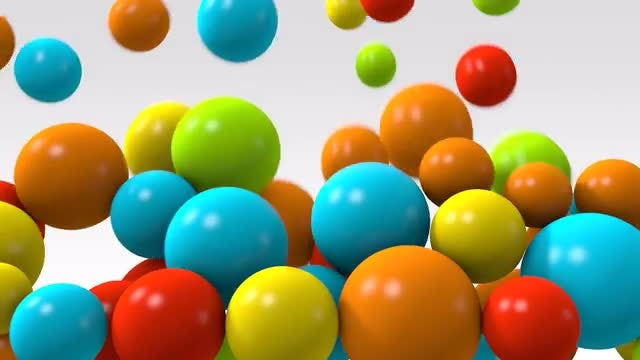 Falling Color Spheres: Stock Motion Graphics