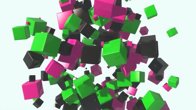 Abstract Boxes Background: Stock Motion Graphics