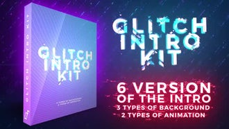 Glitch Intro Kit: After Effects Templates