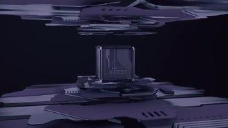 Purple Tech Cube Loop: Motion Graphics