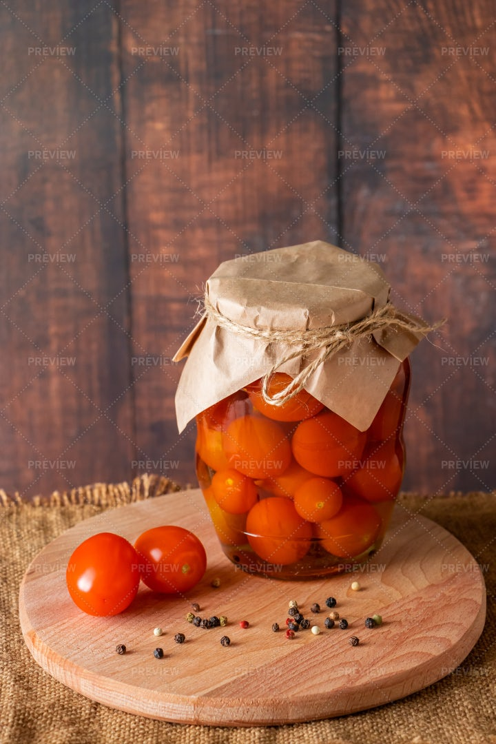 Pickled Tomatoes: Stock Photos