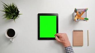 Man Scrolling On An Ipad: Stock Video