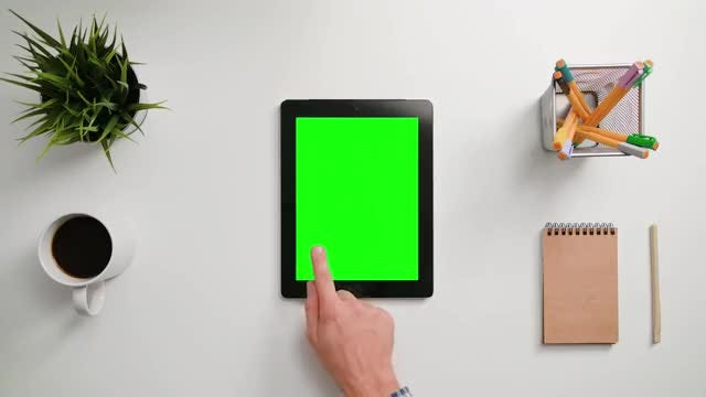 Man Taps On Tablet PC: Stock Video