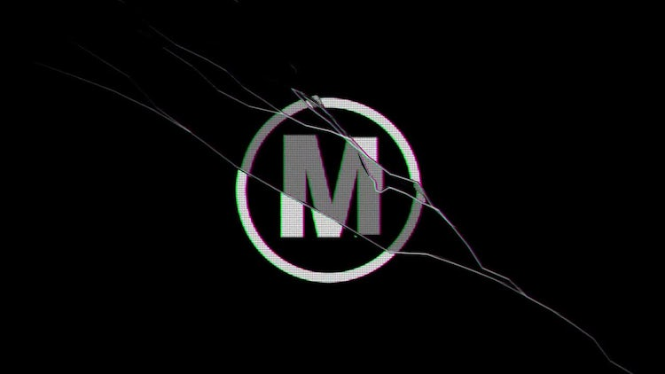 Black Mirror Style Logo Reveal: After Effects Templates
