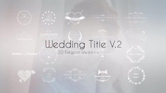 Wedding Title V.2: After Effects Templates