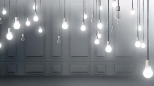 Light Bulbs Background: Stock Motion Graphics
