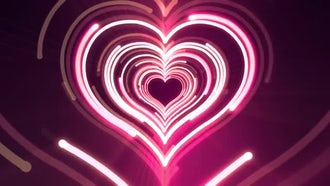 Heart Light VJ Background: Motion Graphics