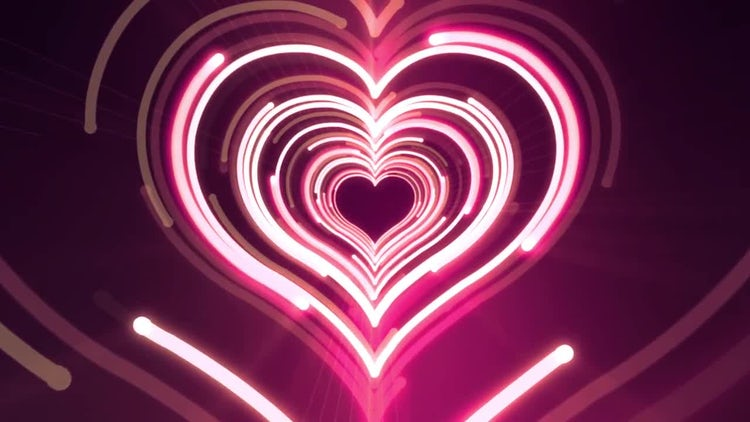 Heart Light VJ Background: Stock Motion Graphics