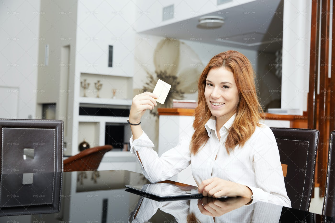 Shopping With Digital Tablet: Stock Photos