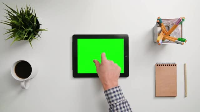 Zooming Out On iPad Touchscreen: Stock Video