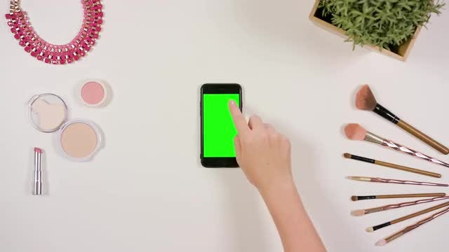 A Woman Touching A Smartphone: Stock Video