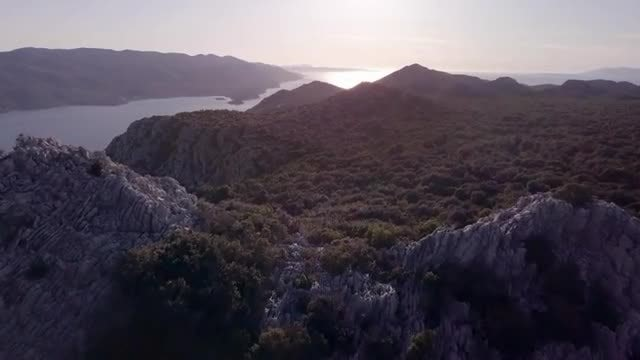 Mountain By The Seaside: Stock Video