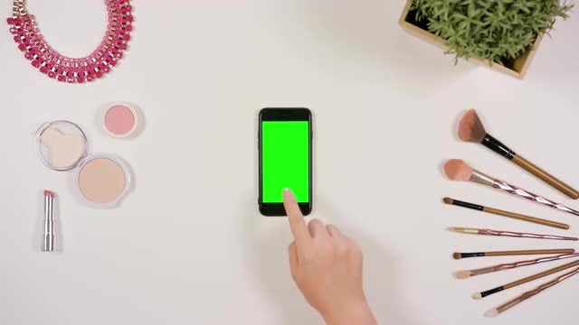Woman Touching A Smartphone: Stock Video