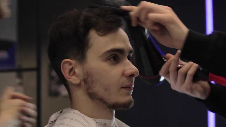 Man Getting A Hair Cut: Stock Video