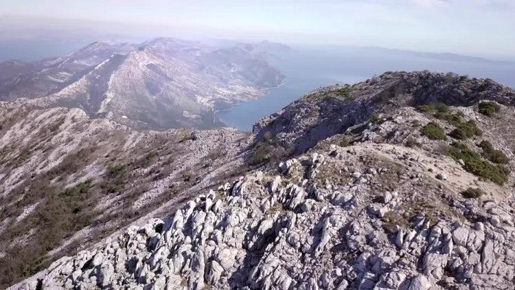 Epic Seaside Mountain Range : Stock Video