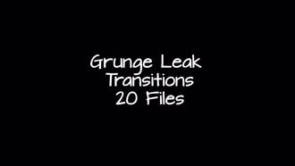 Grunge Leak Transitions: Motion Graphics