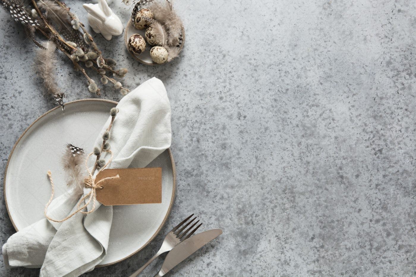 Easter Table Setting: Stock Photos
