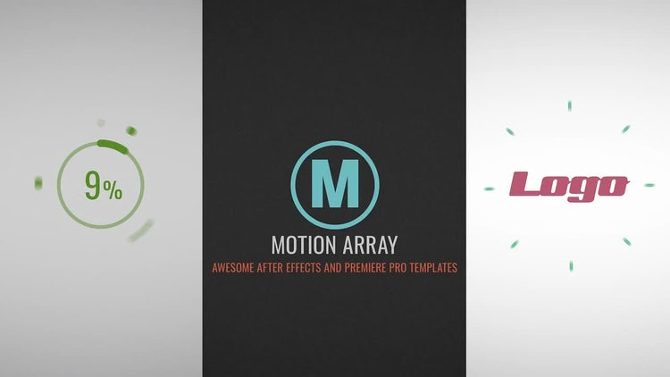 Upload Flat Logo: After Effects Templates