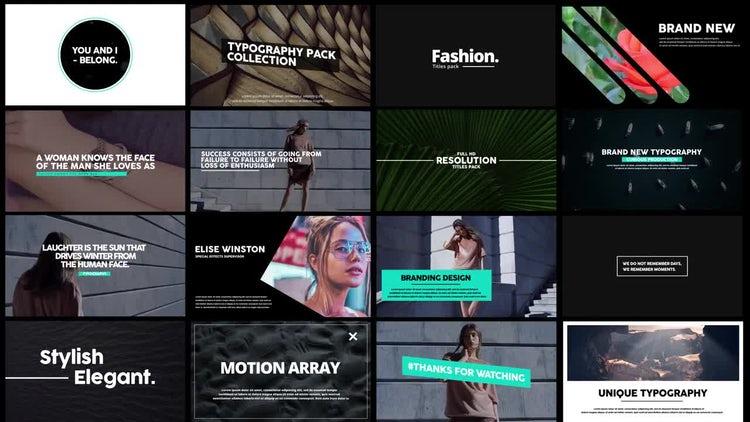 Motion Typo: Premiere Pro Templates