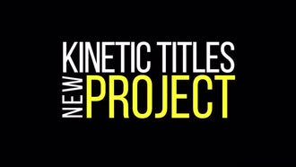 Kinetic Titles: Motion Graphics Templates