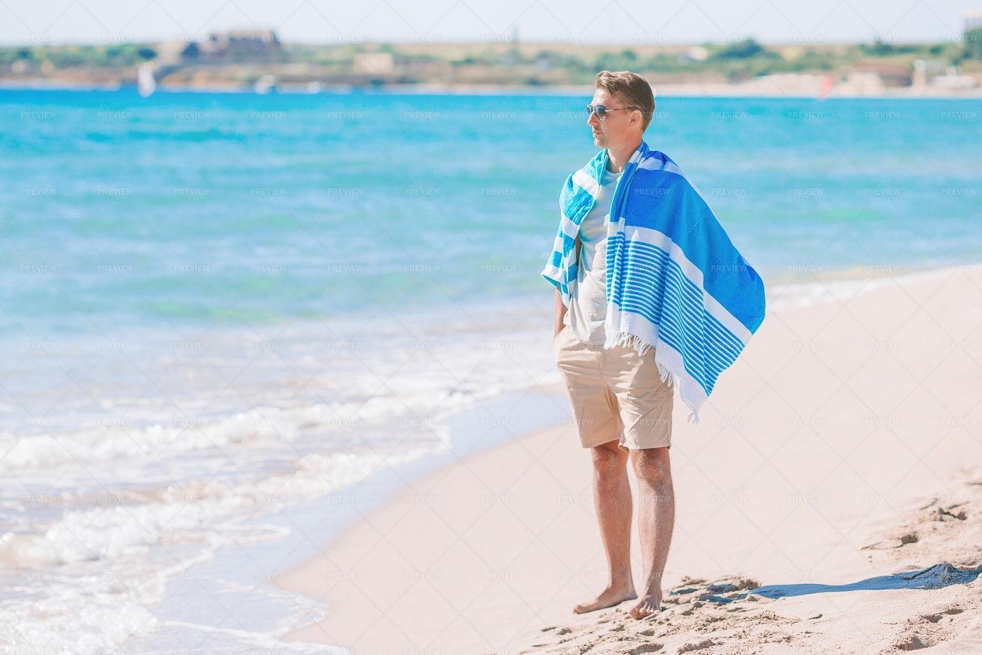 Man On Beach: Stock Photos