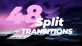 48 Dynamic Split Transitions: Premiere Pro Templates
