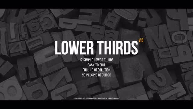 Lower Thirds v.5: Premiere Pro Templates