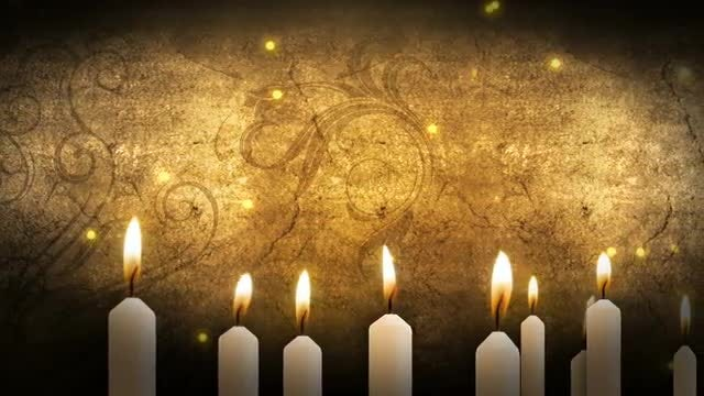 Candles Background: Stock Motion Graphics