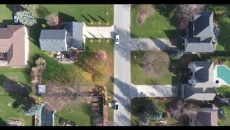 Aerial Shot Of  Posh Neighborhood: Stock Video