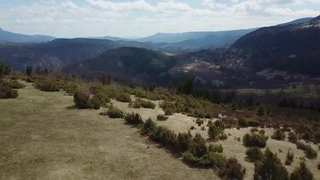 Aerial View Of Hilly Terrain: Stock Video