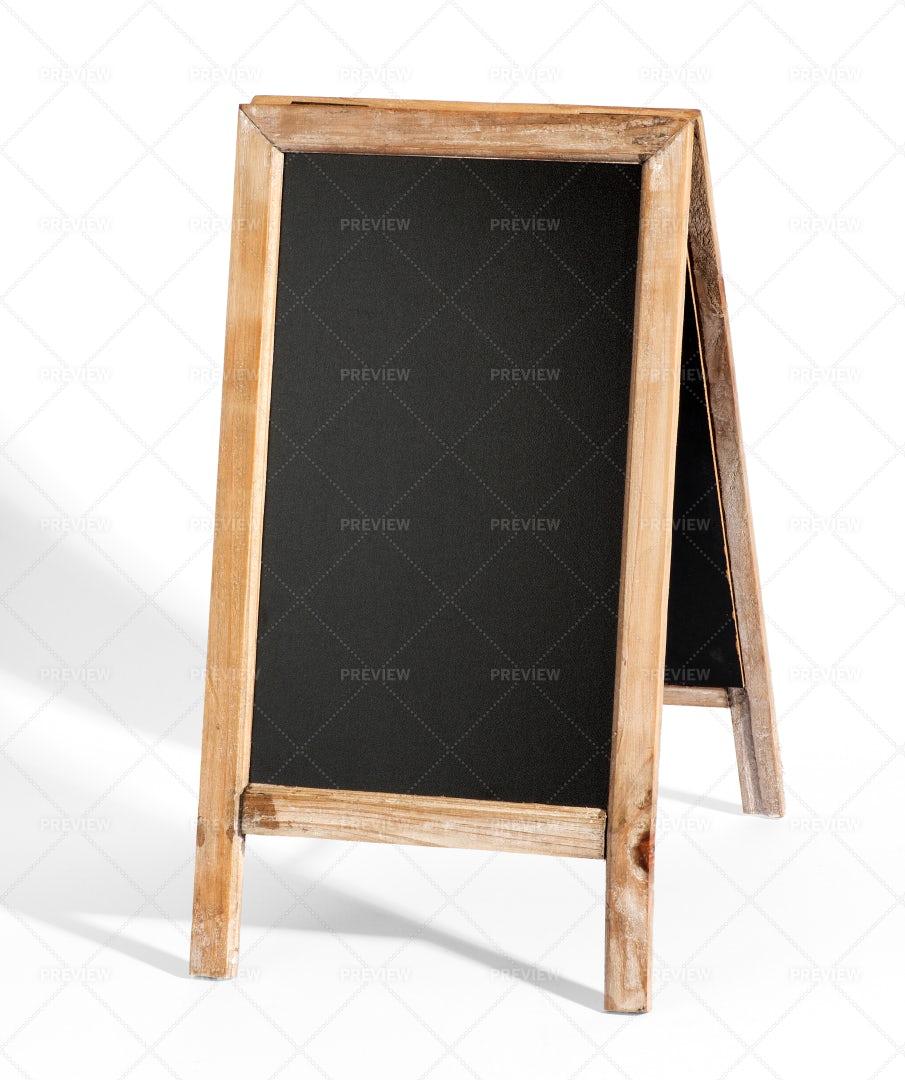 Blank A-Frame Blackboard: Stock Photos