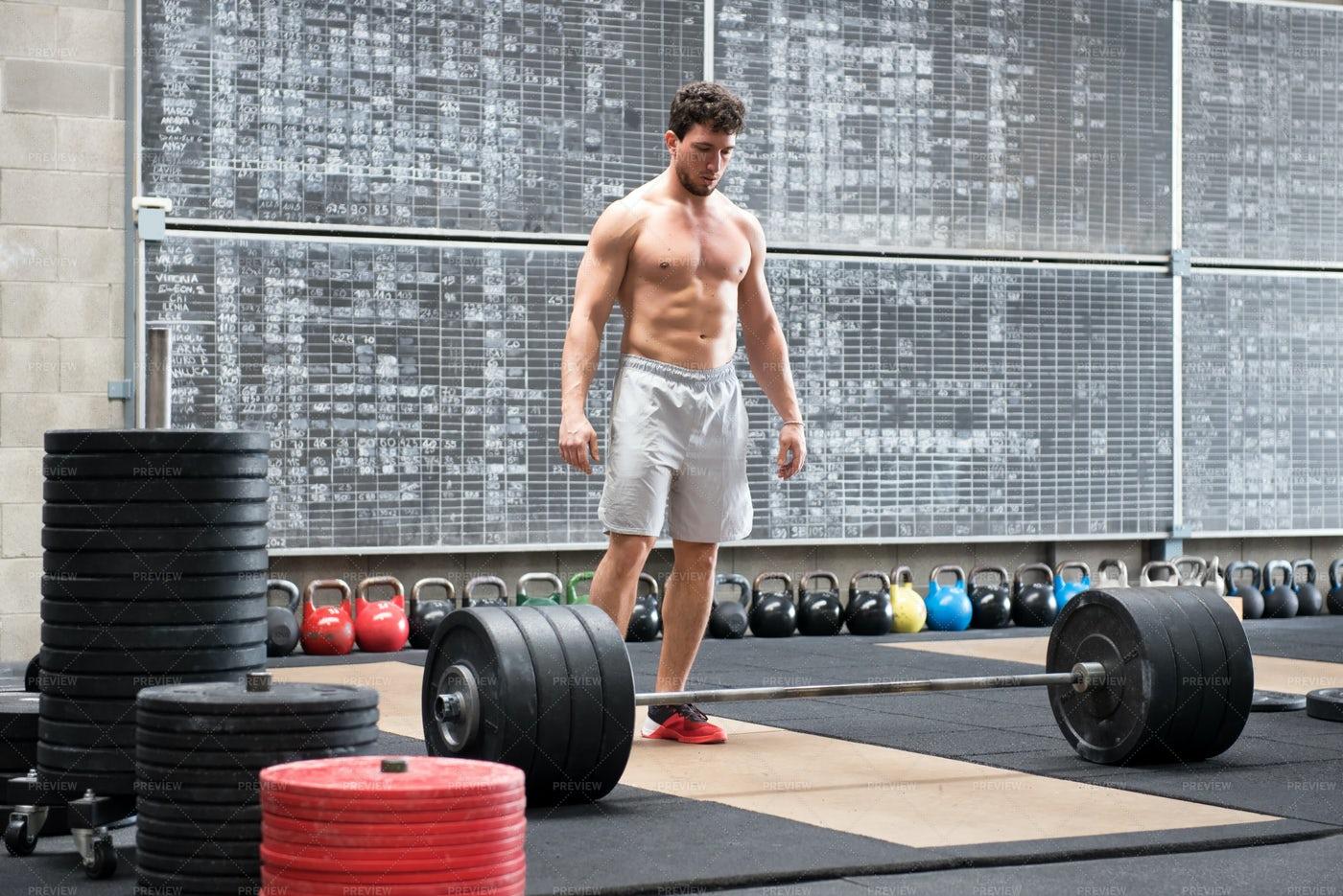 Athlete On A Gym: Stock Photos