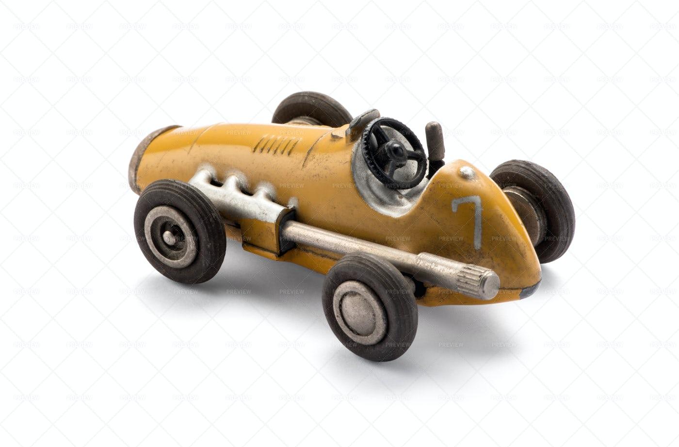 Vintage Toy Racing Car: Stock Photos