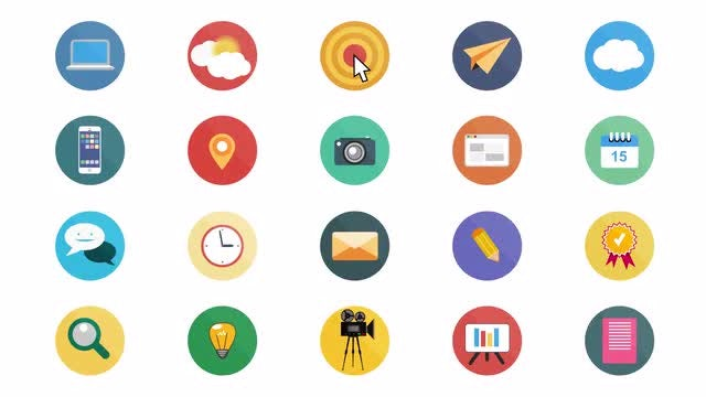 Flat Animated Icons: Stock Motion Graphics