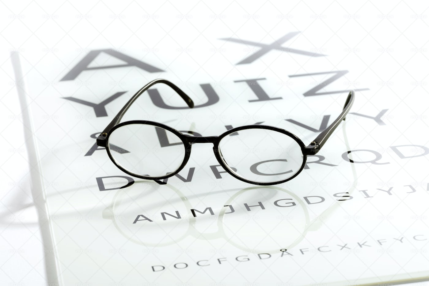 Glasses On A Chart Table: Stock Photos