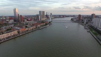 Beautiful Panorama Of  The Rotte: Stock Video