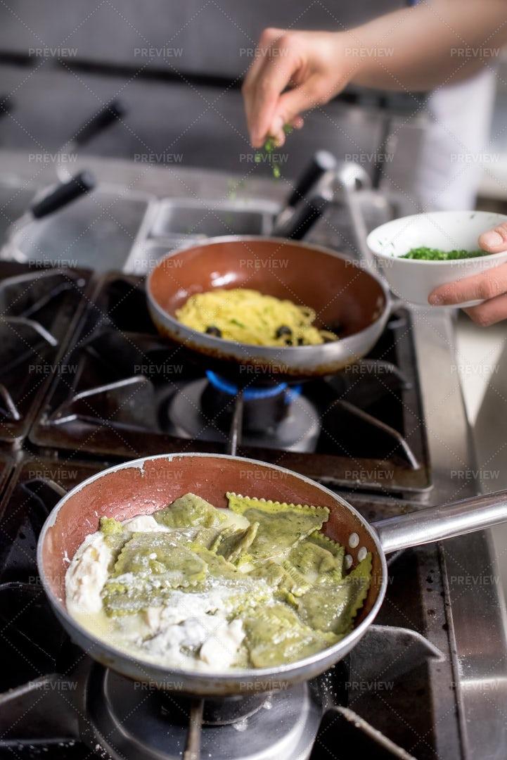 Cooking Ravioli: Stock Photos