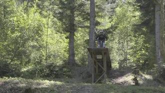 Mountain Biker Performing Amazing Tricks: Stock Video