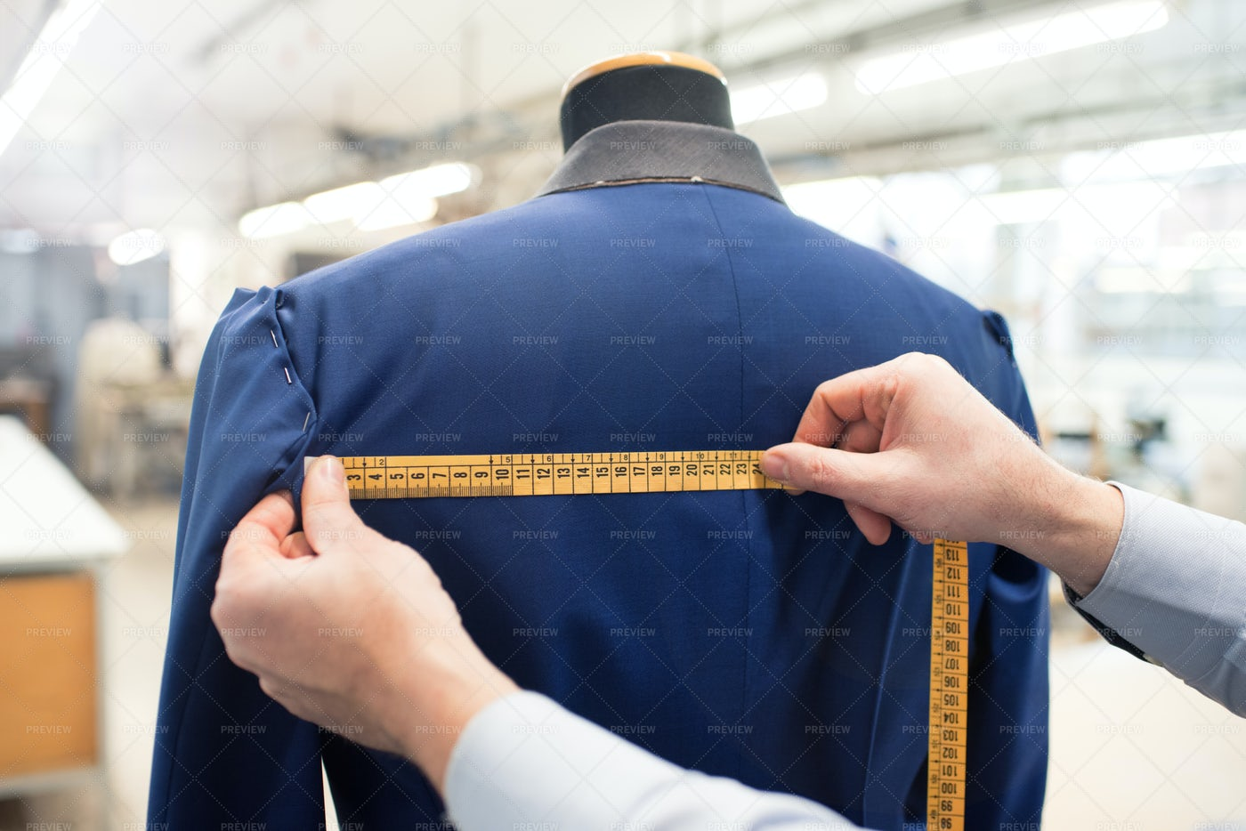 Tailor Measuring Jacket: Stock Photos