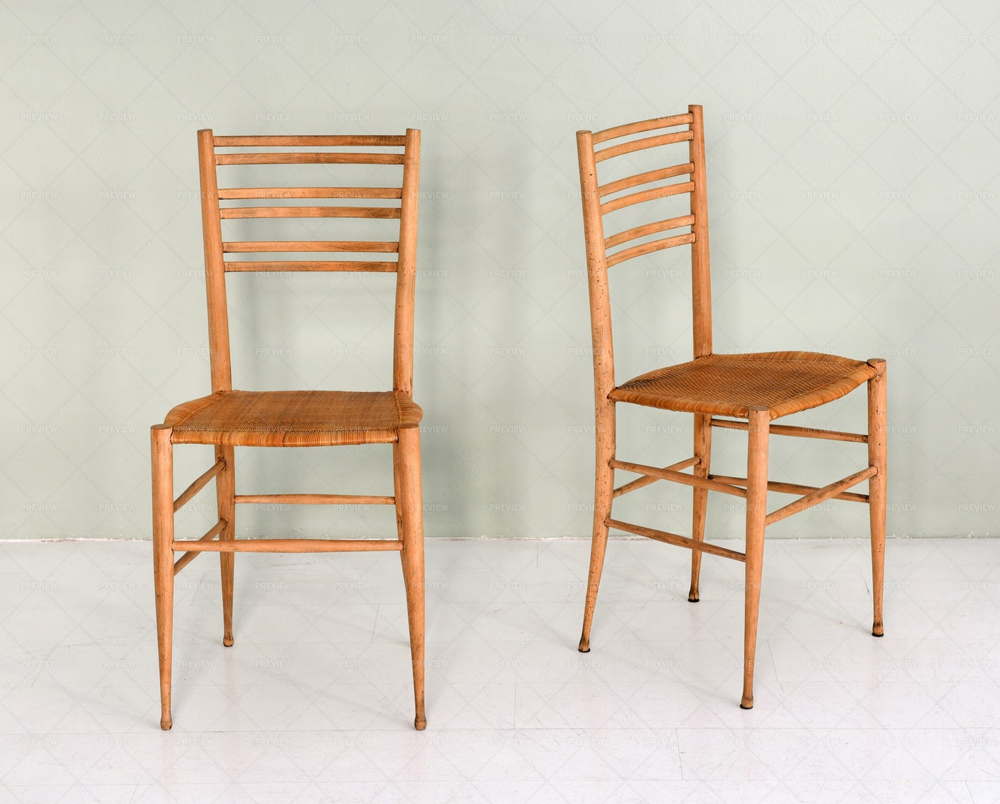 Two Wooden Chairs: Stock Photos