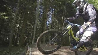 Biker Cycling In Slow Motion: Stock Video